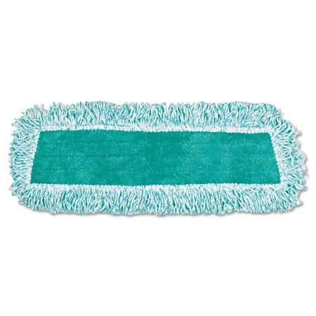 Rubbermaid Commercial Green Cut-End Standard Microfiber Dust Mop with Fringe, 12 count