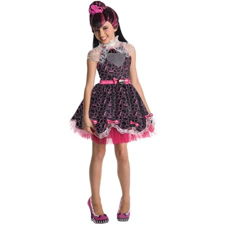 Kids Draculaura Costume (Monster High Deluxe Draculaura Sweet 1600 Costume Child)