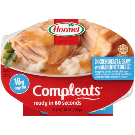 Hormel Chicken Breast   Gravy With Mashed Potatoes Compleats 10 Oz  Sleeve