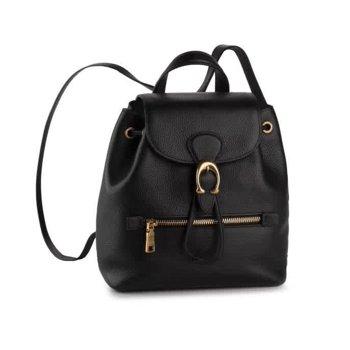 Coach Ladies Black Pebble Leather Evie 22 Backpack