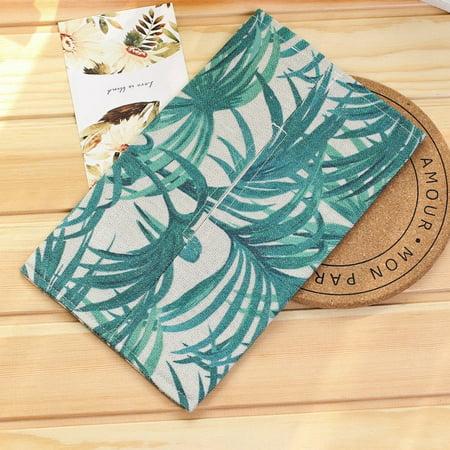 Handmade Fabric Cotton Linen Paper Towel Car Tissue Box Toilet Paper Set