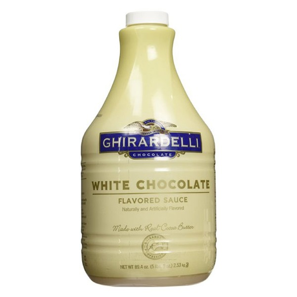 Ghiradelli Chocolate White Chocolate Flavored Sauce 89.4 oz Plastic Bottles Pack of 1 by
