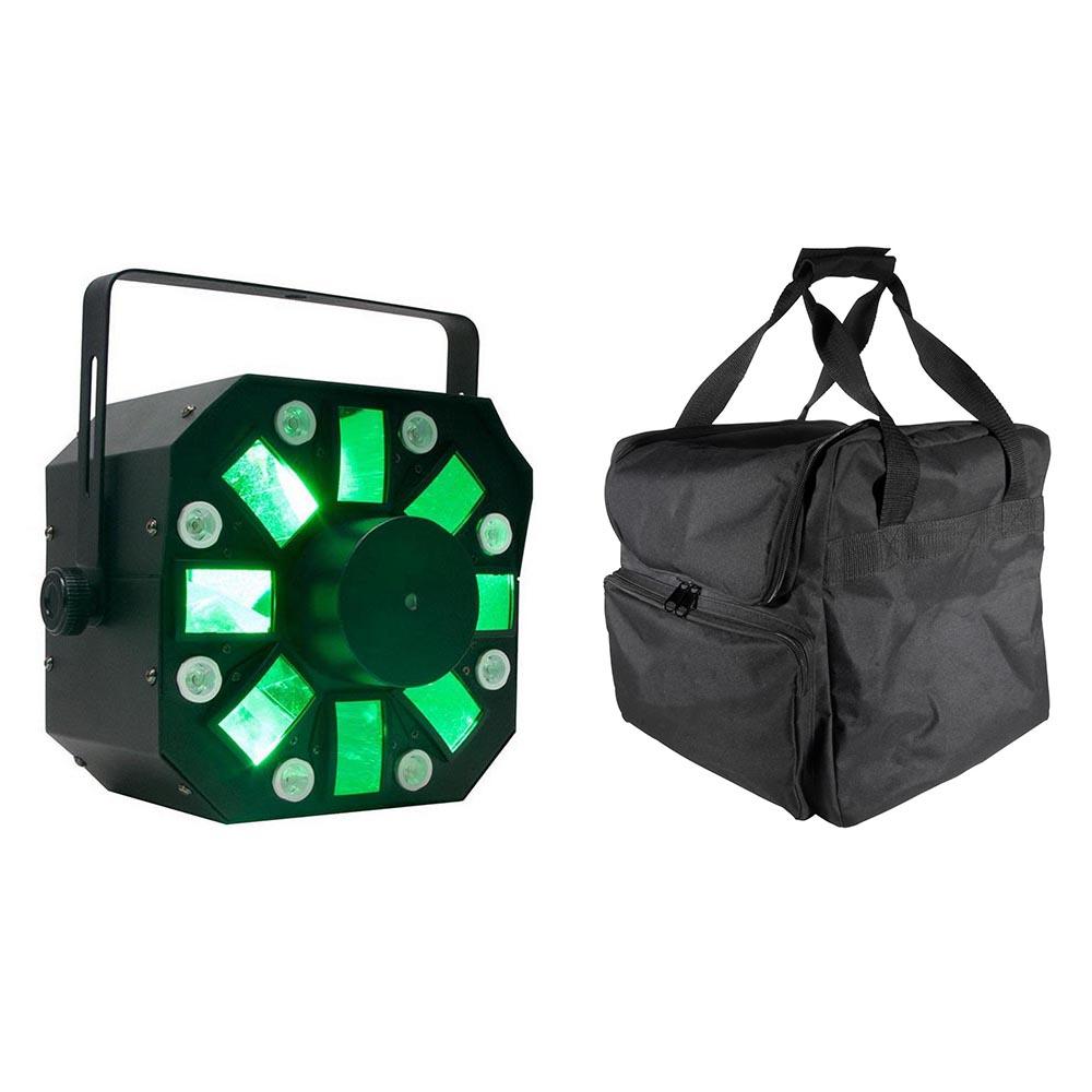 ADJ Stinger DMX Laser, Strobe & Moonflower LED Light + Transport Travel Case by ADJ
