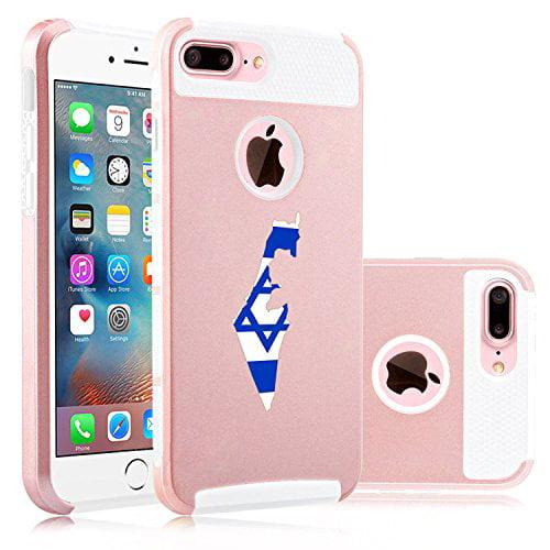 For Apple (iPhone 8 Plus) Shockproof Impact Hard Soft Case Cover Israel Israeli...