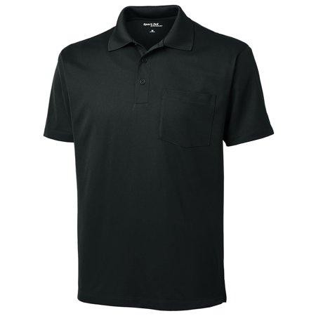 Sport-Tek Men's Snag Resistant Sport-Wick Pocket Polo Shirt