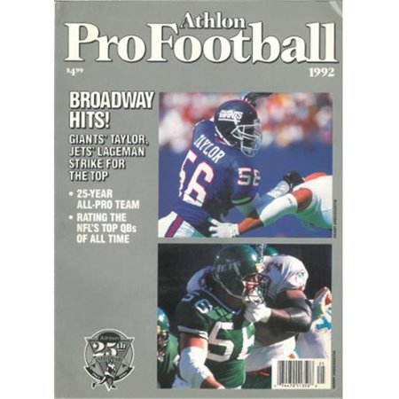 Athlon Ctbl 012546 Lawrence Taylor Unsigned New York Giants Sports 1992 Nfl Pro Football Preview Magazine