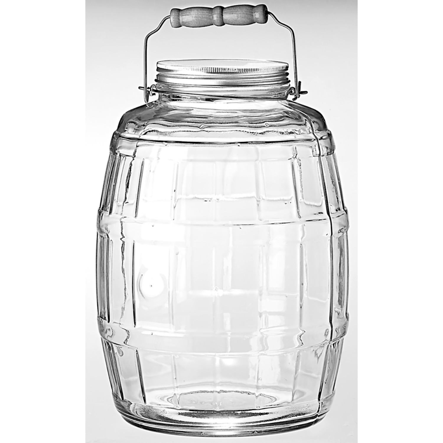 Anchor Hocking 85679 2.5 Gallon Glass Barrel Jar With Lid