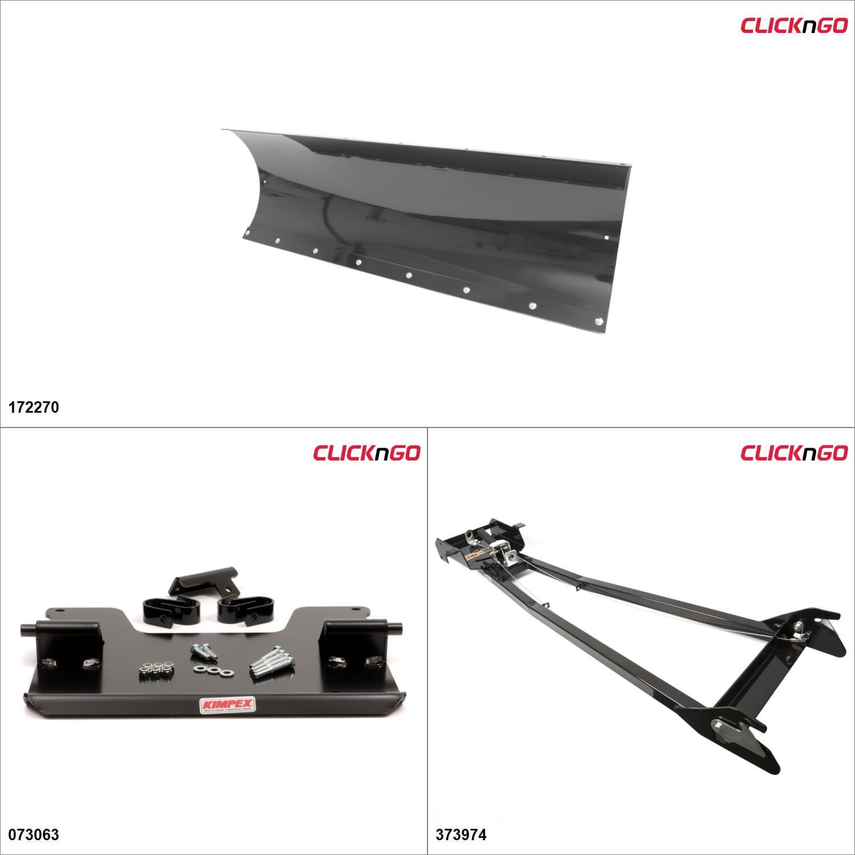 "ClickNGo GEN 1 ATV Plow kit - 54"", Arctic Cat 500 2005 Black  #KK00000163_1"