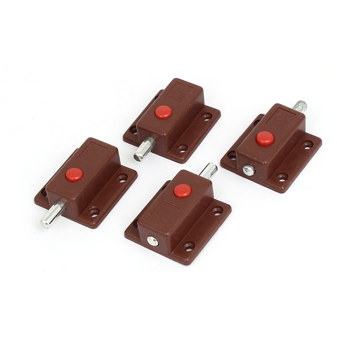 Cupboard Cabinet Door Shell Press Button Automatic  Bolts Latch Lock 4pcs