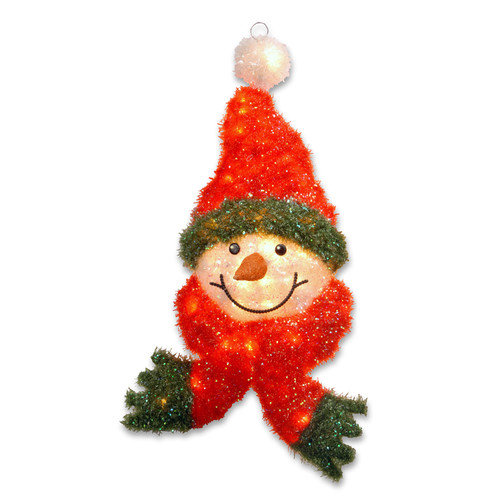 National Tree Co. Pre-Lit Snowman Head Christmas Decoration
