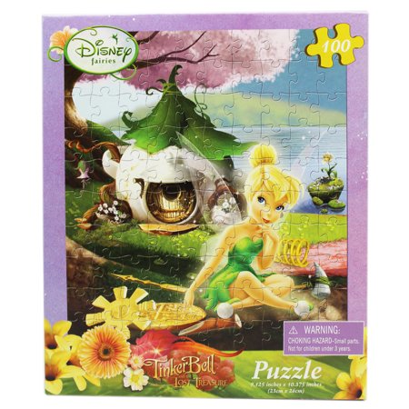 Tinker Bell Sitting in Front of Her Home Kids Jigsaw Puzzle (Ball Jigsaw Puzzle)