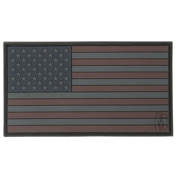Maxpedition Morale Patch Stealth USA Flag 3.0 x 1.7 in