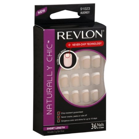 Revlon Naturally Chic Nails, Short, Audrey, Pack Of 2