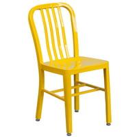 Flash Furniture Metal Indoor-Outdoor Chair, Multiple Colors