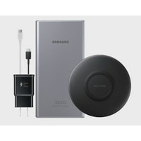 SAMSUNG Wireless Power Bundle - Wireless Charger Pad Slim, 10K mAh Portable Charger, Wall Charger, and USB-C Cables