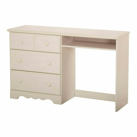South Shore Summer Breeze Kids Writing Desk with Storage, White Wash ()