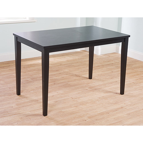 Contemporary Dining Table, Black