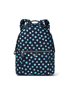 bca5c67e249b Product Image NEW WOMENS MICHAEL KORS LARGE KELSEY NYLON ADMIRAL TILE BLUE  BACKPACK BOOK BAG