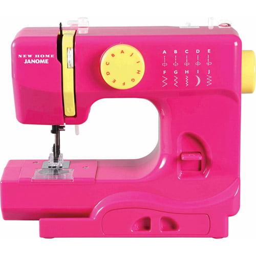 Janome 10-Stitch Fast Lane Fuschia Sewing Machine, Fastlane