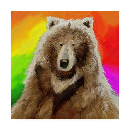 Trademark Fine Art 'Pop Art Bear' Canvas Art by Howie