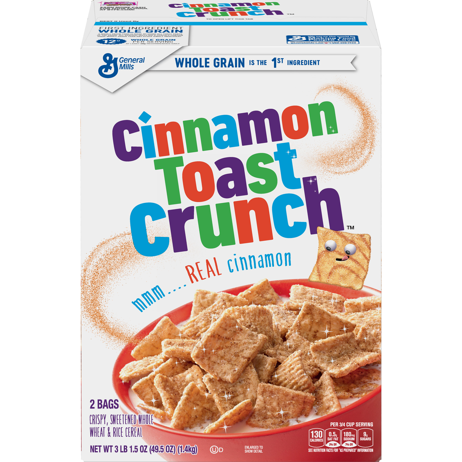 Cinnamon Toast Crunch Cereal, 49.5 oz