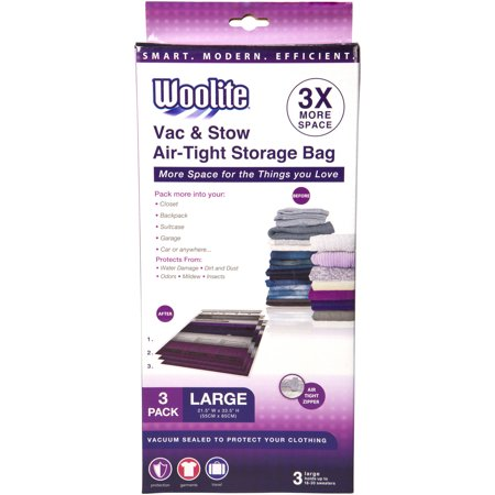 3-Piece Large Vacuum Storage Bags, 21.5 x 33.5