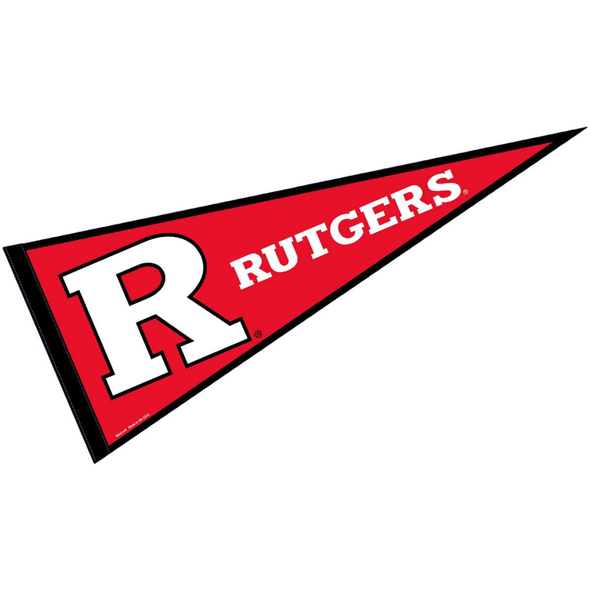 "Rutgers Scarlet Knights 12"" X 30"" Felt College Pennant"