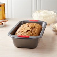 """Tasty 9"""" x 5"""" Loaf Pan Non-Stick with Red Silicone Handles"""