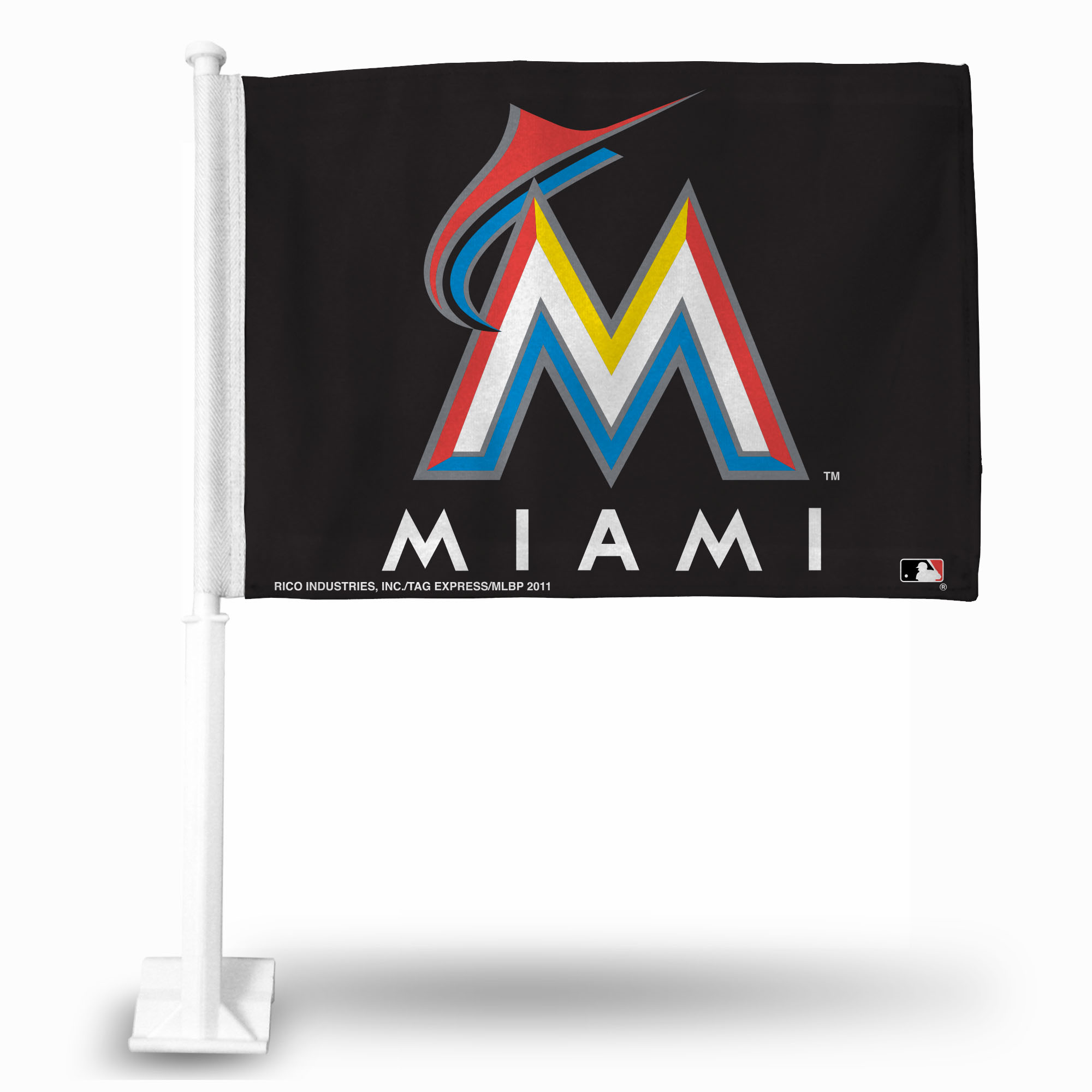 Official MLB Miami Marlins Car Flag 114633