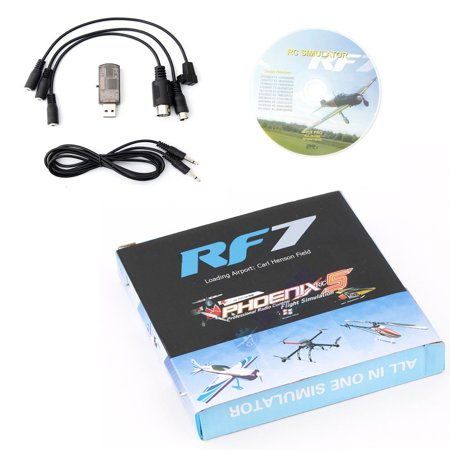 - RF7 22 in 1 RC USB Flight Simulator Set Fit for XTR G5 G6 G7 AeroFly PhoenixRC