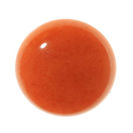 Coral Color Dyed Dolomite Gemstone Round Flat-Back Cabochons 25mm (1 (Dyed Bamboo Coral)