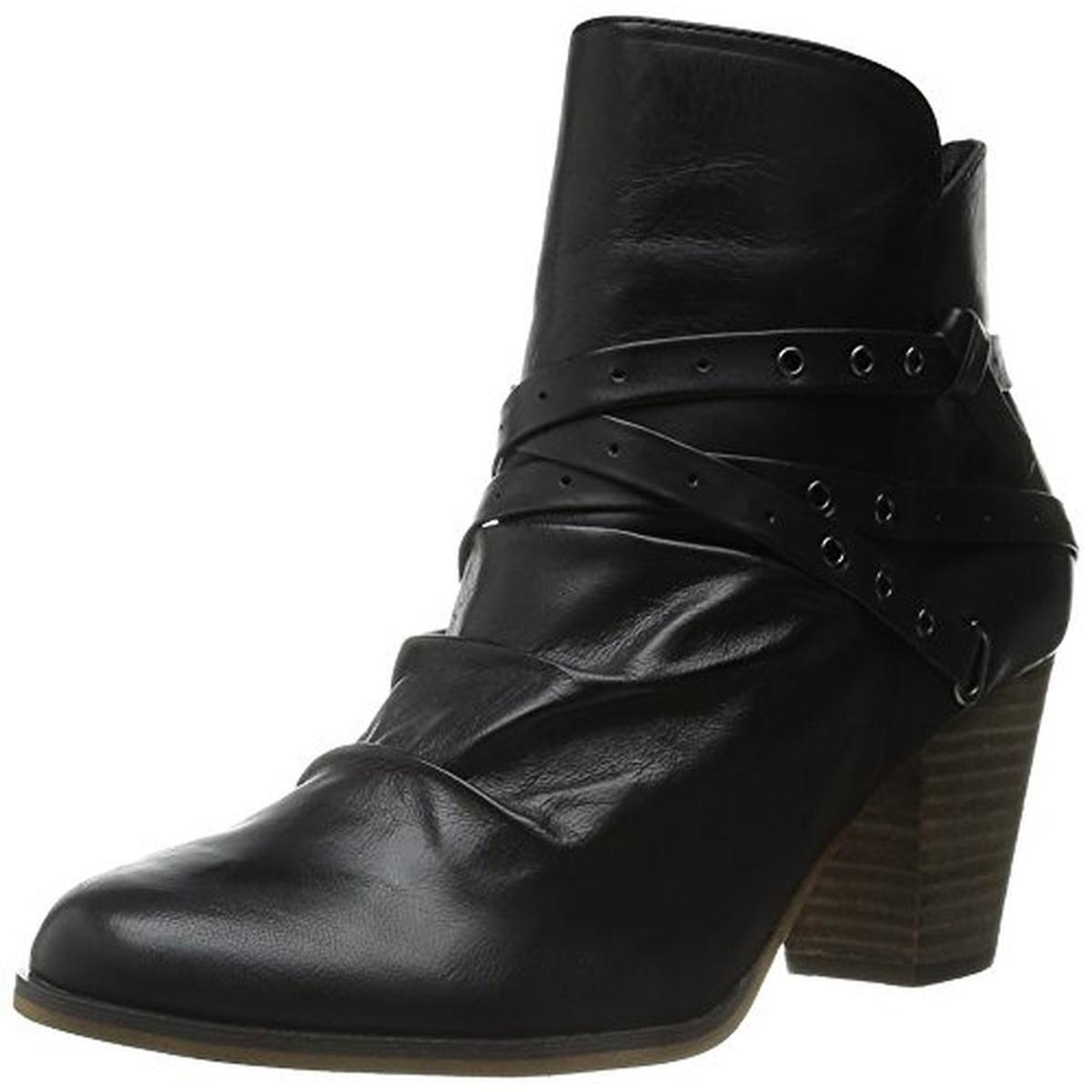 Bella Vita Womens Kiki Leather Stacked Ankle Boots by Bella Vita