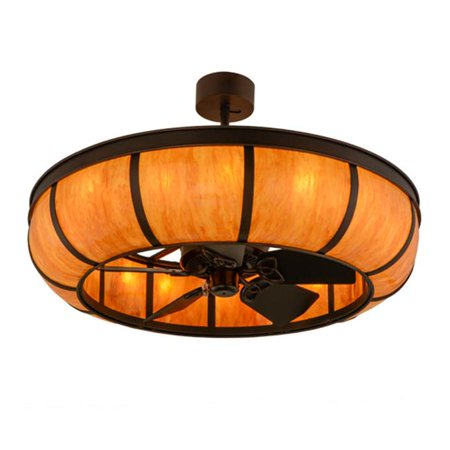 Meyda 156466 44 In  Prime Dome Chandel Air  44  Mahogany Bronze   New Mica Acrylic