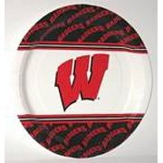 """Wisconsin Badgers 9"""" Dinner Paper Plates"""