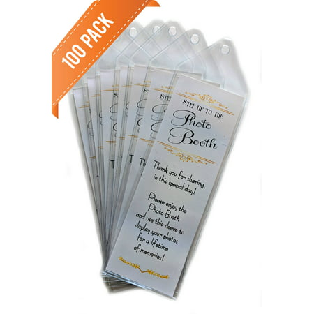 PHOTO BOOTH NOOK Premium 2x6 Photo Booth Bookmark Sleeve with Insert, Set of 100