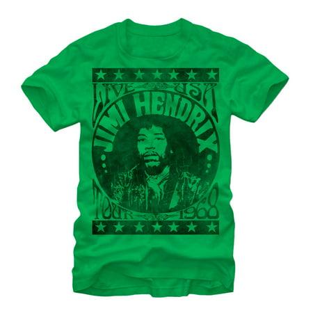Jimi Hendrix Classic Tour Poster Mens Graphic T Shirt