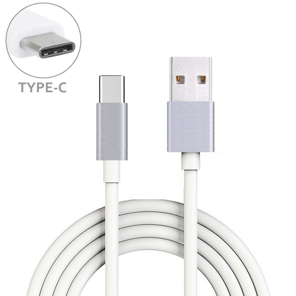 White 10ft Long Type-C Cable Rapid Charger Sync USB Wire USB-C Power Data Transfer Cord for Lenovo Moto Tab (10.1) - LG V35 ThinQ, Stylo 4 - Motorola Moto Z3 Play G6 - OnePlus 6