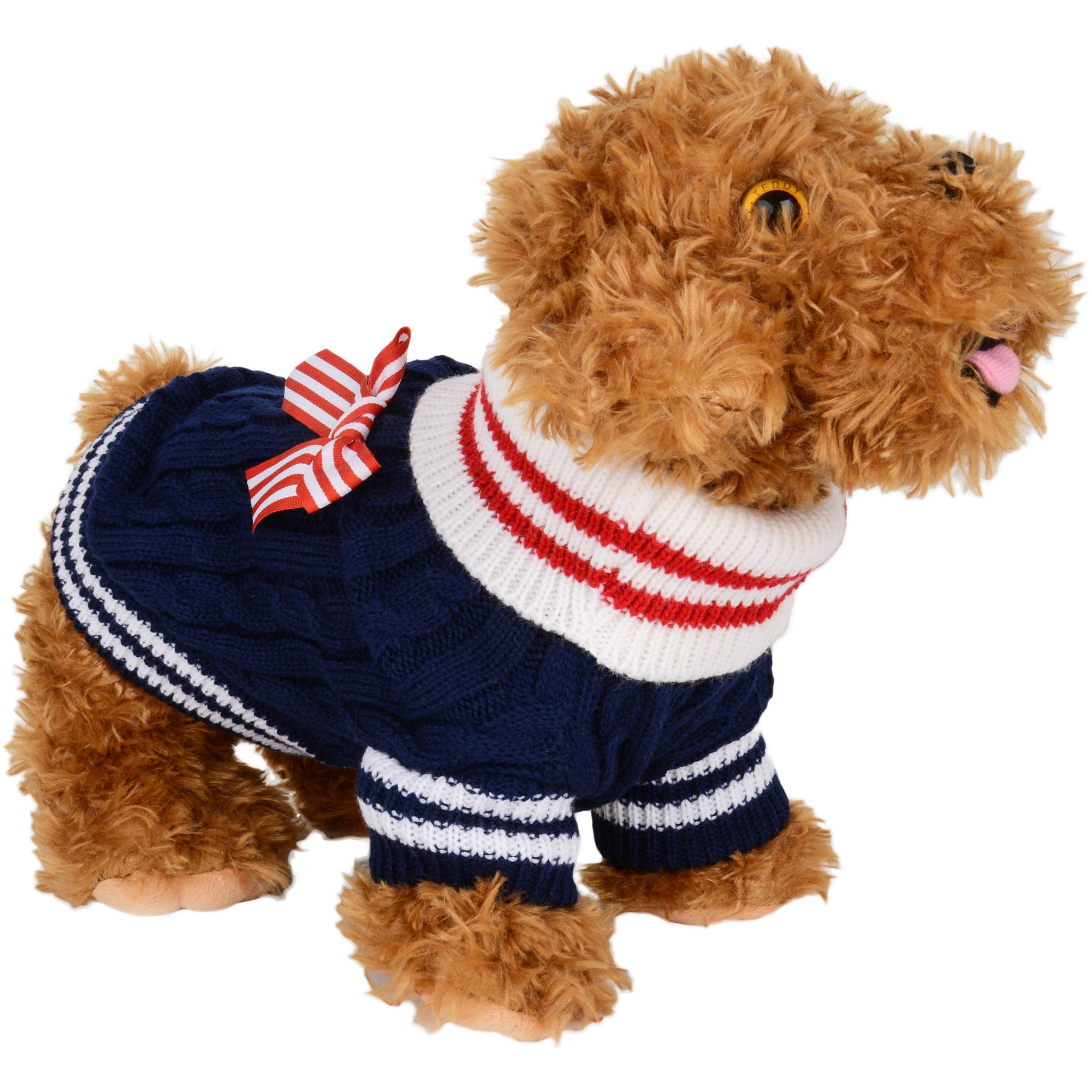 CUECUEPET Gender Neutral Cotton Dog Sweater with Bow