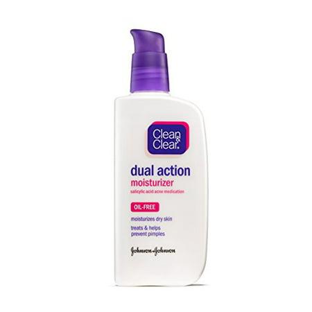 3 Pack - Clean & Clear Dual Action Moisturizer Oil-Free 4 oz Each