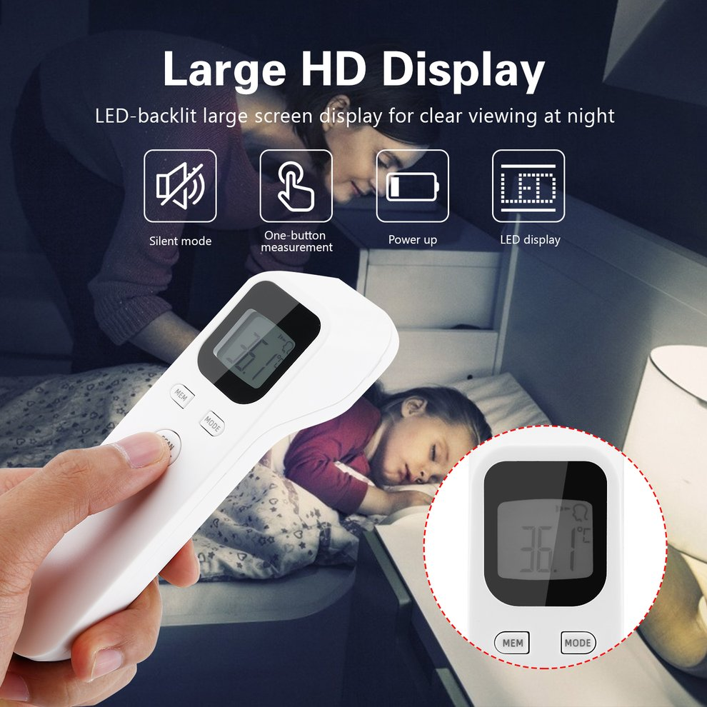 goalBY Non-Contact Infrared Temperature Measurement Forehead with Fever Alarm