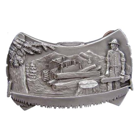 Logger Axe Head Novelty Belt Buckle