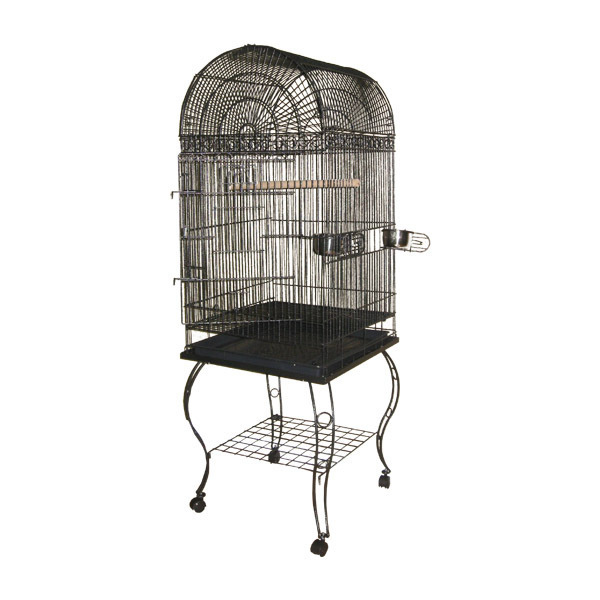 A and E Cage Co. Dome Top Bird Cage-Platinum