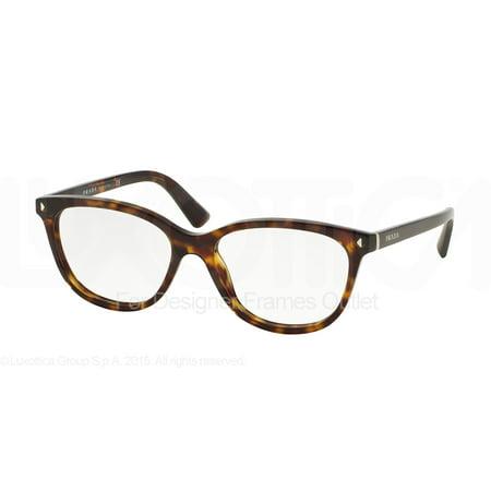 PRADA Eyeglasses PR 14RV 2AU1O1 Havana (Red Prada Eyeglasses)