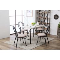Anders Faux Marble 5-Piece Dining Set