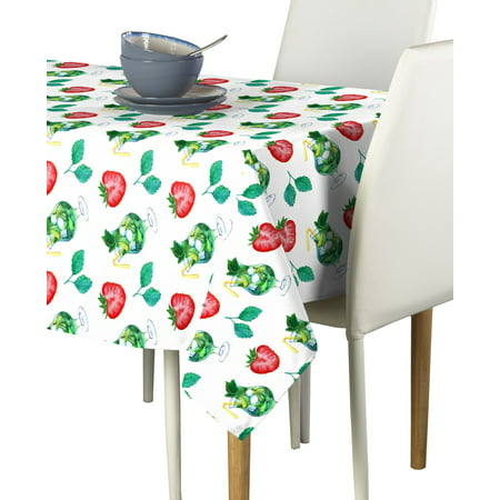 Fabric Textile Products Large Strawberry Mojito Tablecloth - Strawberry Mojito