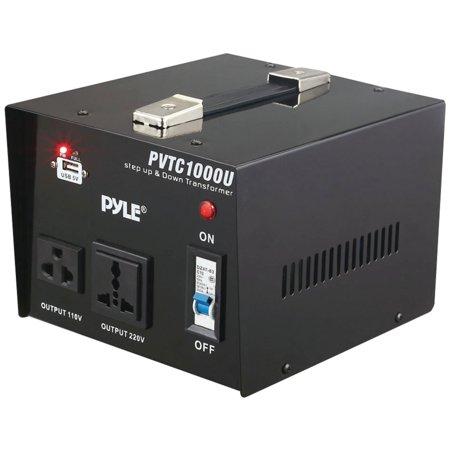 500w Voltage Converter - Pyle Pro PVTC1000U Step Up & Step Down Voltage Converter Transformer (1000 Watt)