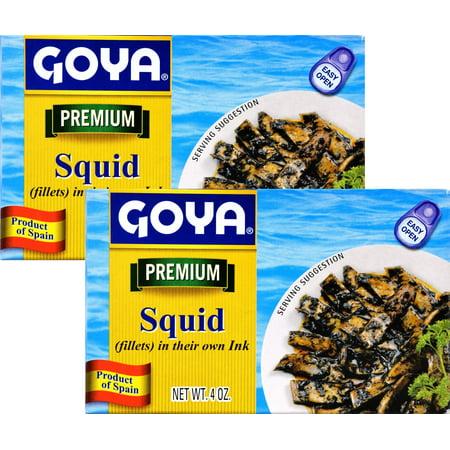 Halibut Fillets (Squid Fillets in their ink by Goya 4 oz (Pack of 2))