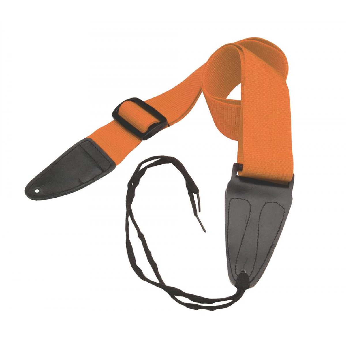 On-Stage GSA10OR Guitar Strap with Leather Ends (Orange)
