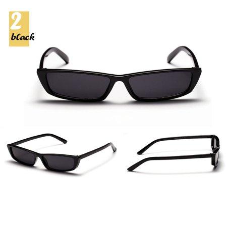 Vintage Rectangle Sunglasses Women Brand Designer Small Frame Glasses Retro ()