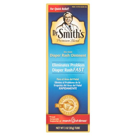 Dr Smith's Premium Blend Zinc Oxide Diaper Rash Ointment, 3 oz